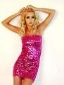 Haute Pink Strapless Sequin Mini Dress, Party Dress, Trendy Designer Women's Clothing: Minis Dresses, Party Dresses, Parties Dresses, Saia Mini-Sequins, Sequins Dresses, Pink Sequins, High Fashion, Prom Dresses, Chiffon Dresses