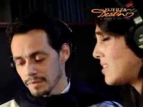 "Sandra Echeverria ""La Fuerza Del Destino"" Marc Anthony (Detras de camaras) - YouTube"