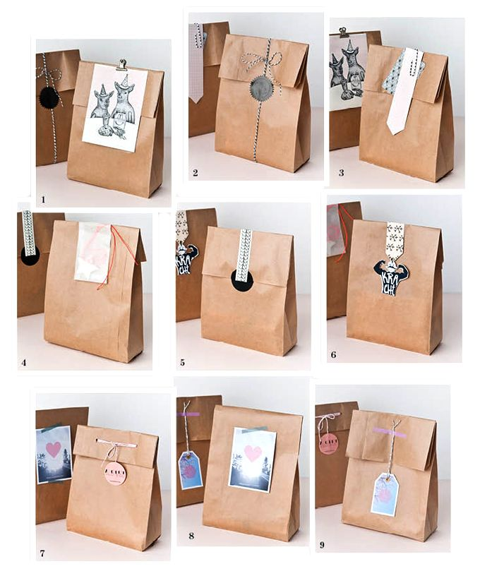 9 quick wrapping ideas #wrapping #wrapup #quick #papieratelier