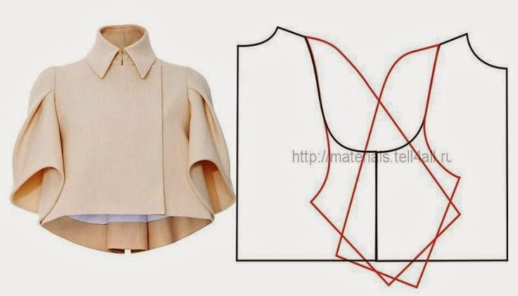 JACKET / COVER WITH RAGLAN SLEEVE ~ free base pattern and instructions how to modify sleeves
