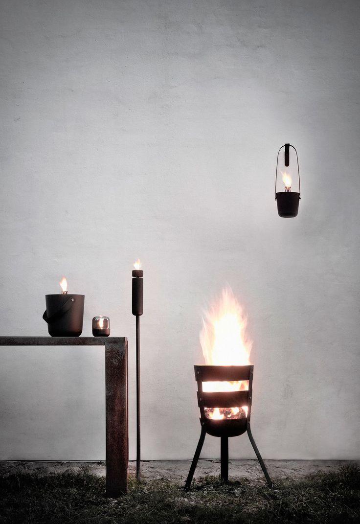 Fire Bucket Tall oil lamp from Danish Menu #menu #oillamp #outdoor #firebucket #firebasket