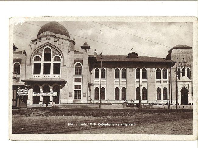 İzmir Milli Kütüphane ve Sineması. Gökhan Akçura Arşivinden.