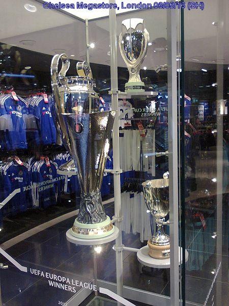 Reminder of Chelsea's past European triumphs.