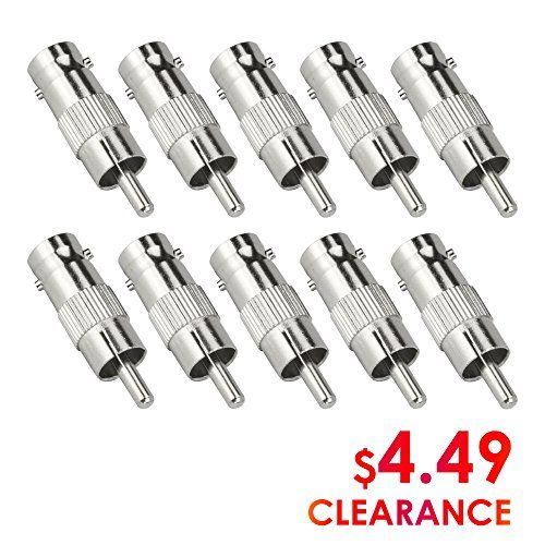 10 Pack RCA Coupler Female Plug To Female Plug