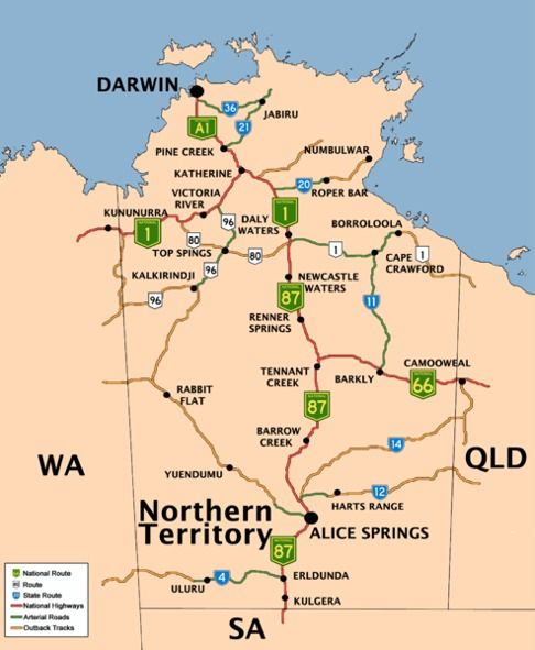 Get your bearings: Northern Territory Map - #matt4ustoa #NTAustralia
