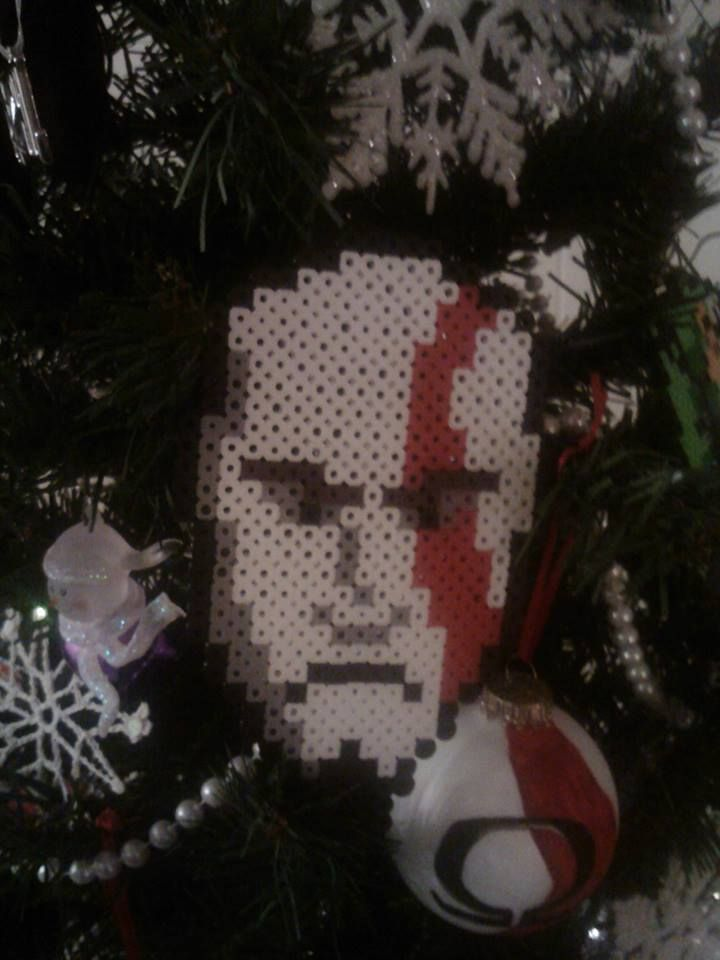 Perler Bead Kratos God of War Ornament