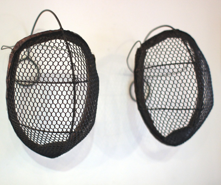 19th century fencing masks