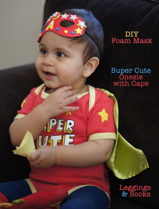 Mini Piccolini - Easy DIY Halloween Costume  Super Cute onesie with cape and accessories