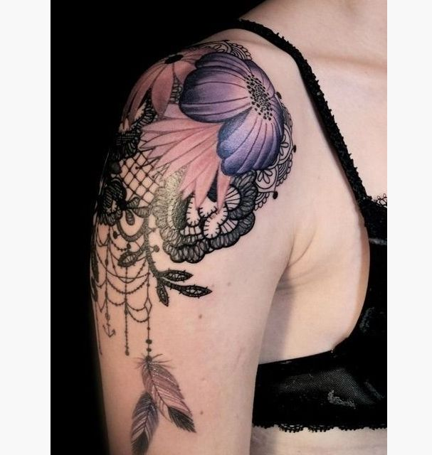 Feminine Shoulder Tattoo