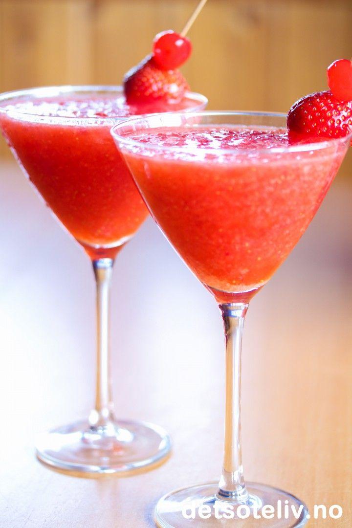 Strawberry Daiquiri Slush | Det søte liv