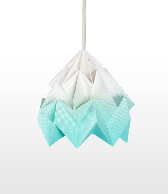 Want = Moth origami lampshade gradient mint
