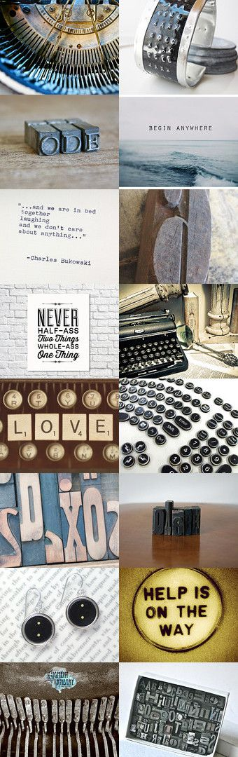 My type by plantedfeet on Etsy--Pinned with TreasuryPin.com