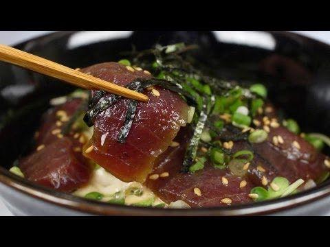 Marinated Fresh Tuna Bowl (Maguro Zukedon Recipe)