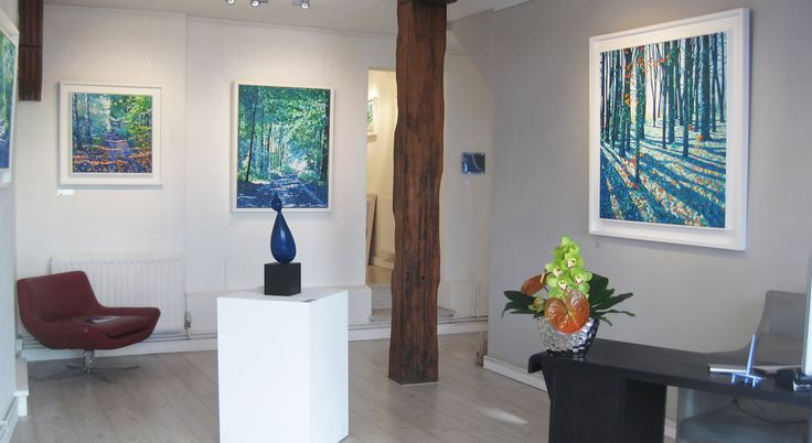 Ewa Adams - Journeys in Colour - Gallery Installation  #Art #Paintings #Exhibitions #Surrey