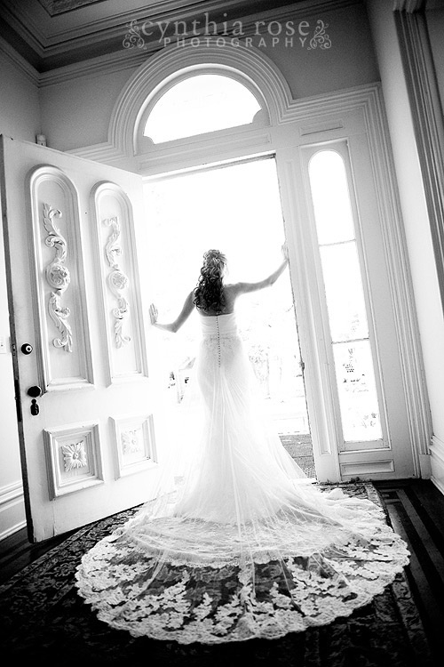 wilmington nc bridal portrait by Cynthia Rose Photography LOVE this pic!! beautiful way to show off the back of the dress!