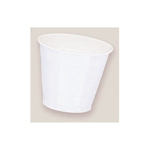 Plastic White Cups. There are 20 Plastic Cups per package. These 9 ounce cups come in 22 colours to match any theme or event.