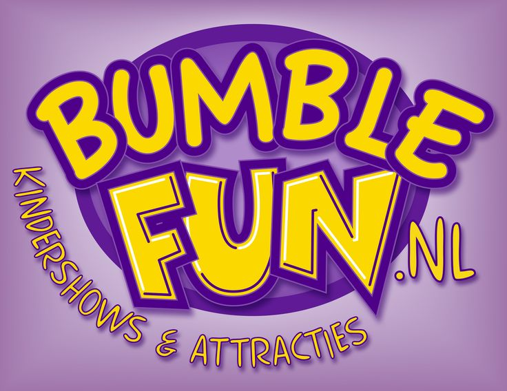 Bumble Fun glossy logo in achtergrond