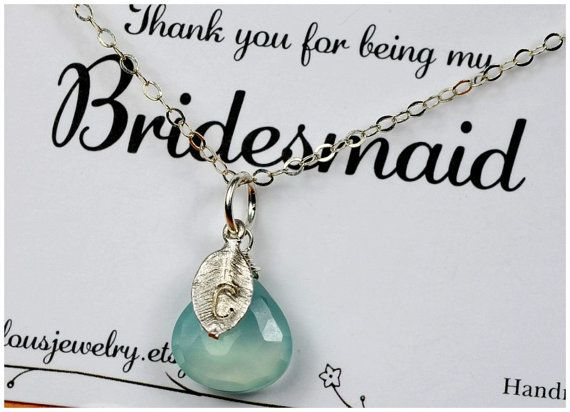 Bridemaid Gift SET OF 7 Birthstone .Monogram.Jewelry.InitiaL.Personalized.Bridesmaid gifts, necklaces thank you cards,wedding bridal jewelry