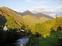 The Raid on Ross was a conflict that took place in 1491 in the Scottish Highlands. It was fought between the Clan Mackenzie and several other clans, including the Clan MacDonald of Lochalsh, Clan MacDonald of Clanranald the Clan Cameron and the Chattan Confederation of Clan Mackintosh. Kintail home of the Clan Mackenzie in Ross-shire - Five Sisters.jpg