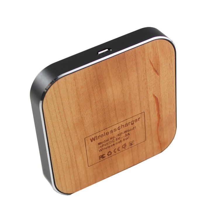 Mini Portable Wood Qi Standard Wireless Charger Pad