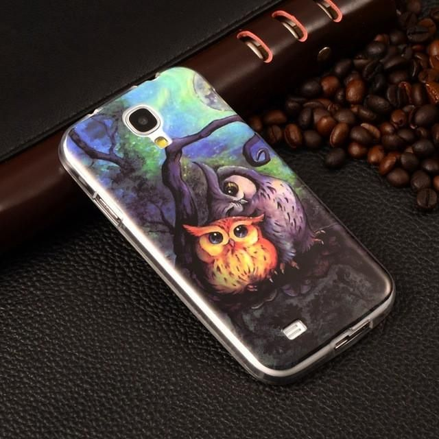 Phone Case For Samsung Galaxy S4 Case Owl Tower Flag Soft TPU Silicone S4 Case SIV I9500