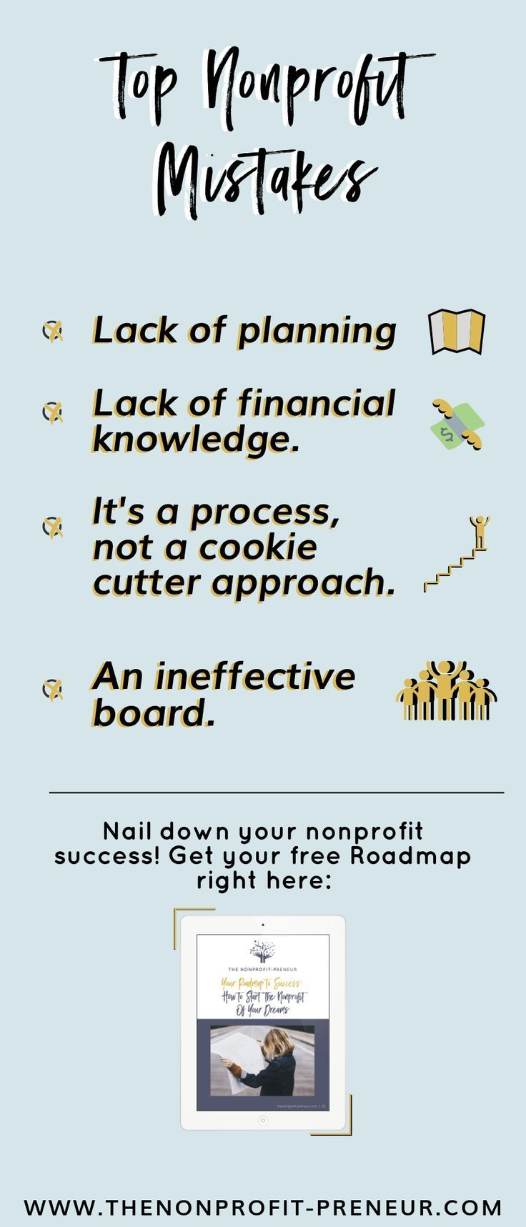 Avoid These Top Nonprofit Mistakes To Supercharge Your Success Download Your Free Nonprofit Ro Nonprofit Marketing Ideas Nonprofit Startup Nonprofit Marketing