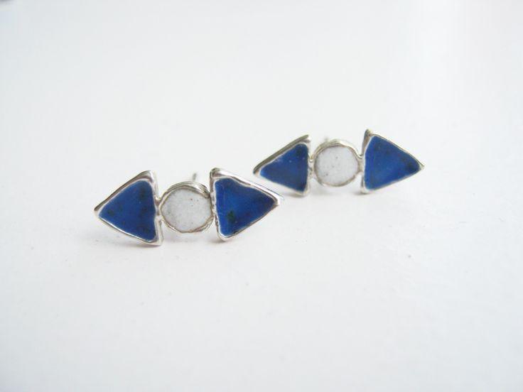 Enamel earring / pendientes esmalte al fuego