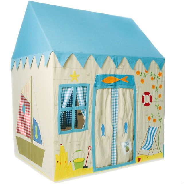 Win Green Beach House Playhouse Play Tent Large