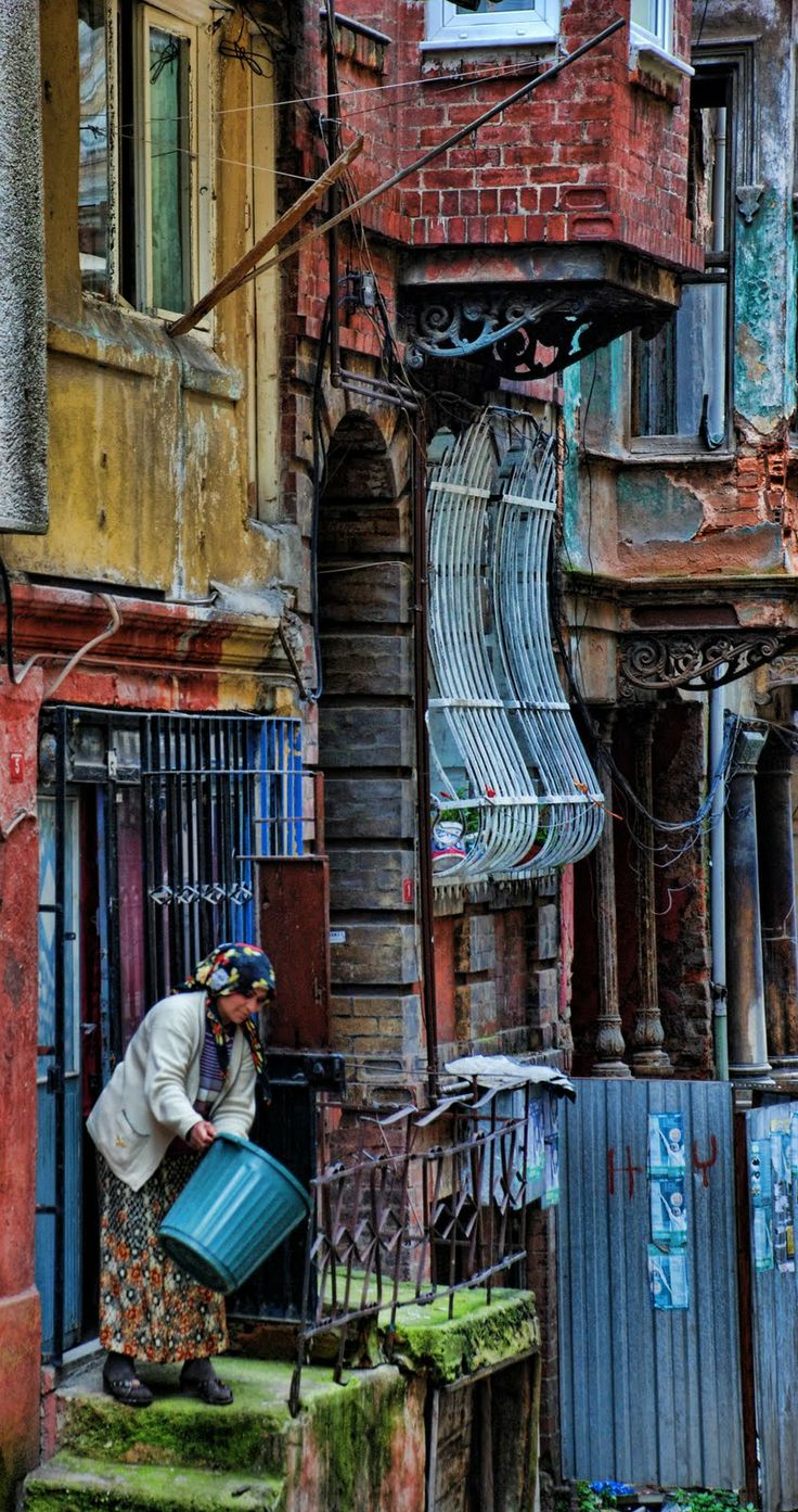 Balat - one of the old traditional neighbourhoods that is being threatened with gentrification in Istanbul, Turkey