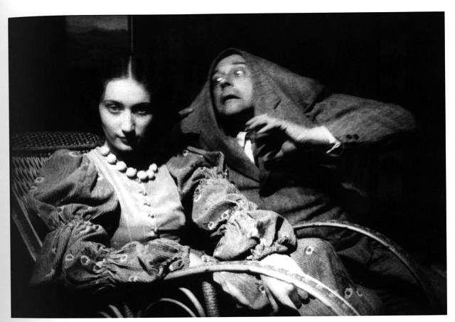 Portret Janina Turowska Leszczynska i Witkacy Potwór z Dusseldorfu 1932 fot. Władyslaw. J. Grabski