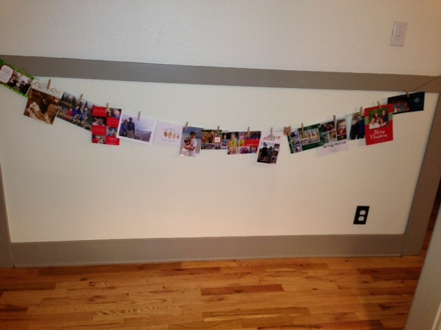 Wall for holiday cards