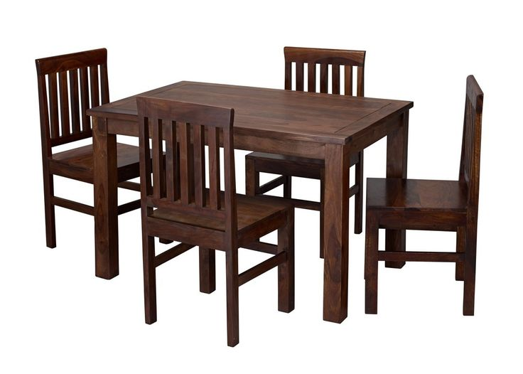 http://www.bonsoni.com/jaipur-dining-set-by-lloyd-phillip-delric  Sturdy 4 seater dining set in solid sheesham wood. The chairs come pre-assembled for ease, the table just requires the legs attaching. This range also matches all the indian range furniture.  http://www.bonsoni.com/jaipur-dining-set-by-lloyd-phillip-delric