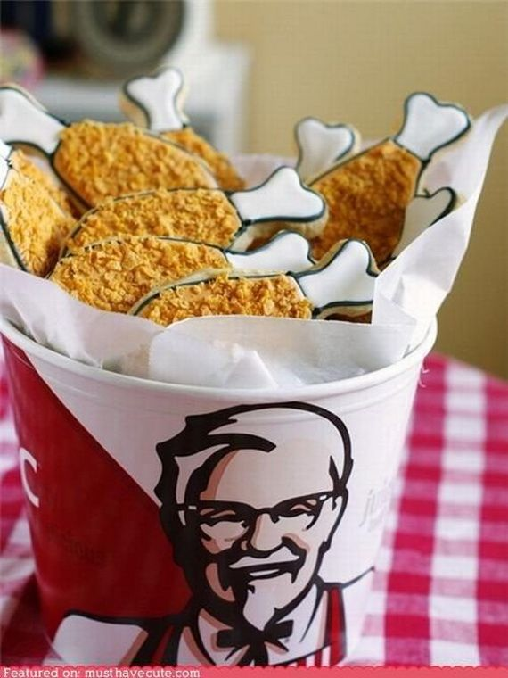 KFC cookies? Awesome!! I have got to try these!!! I'M SO HUNGRY FOR KFC NOW!!! XD