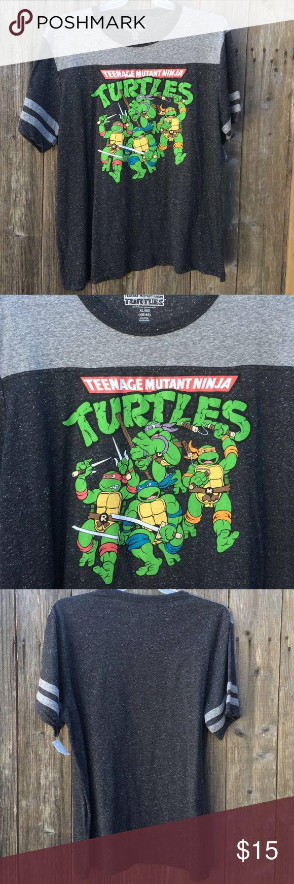 NWT Ninja Turtles Men's Tee New with tags men's tee. Ninja turtles graphic. Brand new never worn. Size XL 60% cotton, 40% polyester. Open to offers!! Any questions?? Please ask! I ship same day!📬📦🎁 Nickelodeon Shirts Tees - Short Sleeve