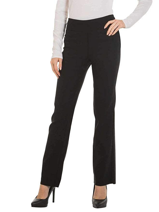 a69fbf7d9ef Red Hanger Bootcut Dress Pants for Women -Stretch Comfy Work Pull on Womens  Pant Black-XL
