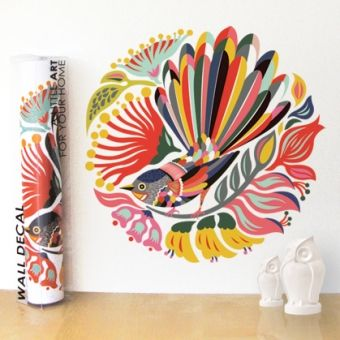 Wall Decal 'Colourful Fantail'