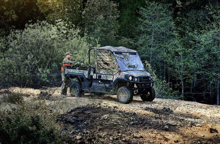 New 2017 Kawasaki Mule PRO-FX™ EPS Camo ATVs For Sale in West Virginia. The Mule PRO-FX™ EPS Camo Side x Side features the rich patterns of Realtree Xtra® Green Camouflage that can help get you into a perfect position on the hunt without ever being noticed. Massive cargo bed can fit a standard size 40 x 48 pallet withthe tailgate closed Powerful 812 cc three-cylinder engine with massive torque, impressive pulling power, and smooth acceleration to tow heavy loads across rugged terrain…
