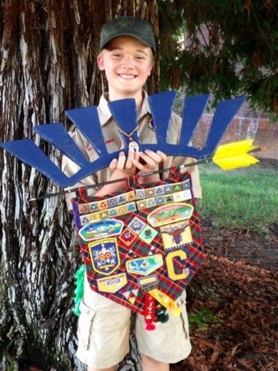 Arrow of Light Award {Cub Scout Patches Display}