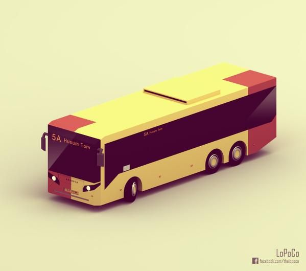 lowpoly bus - Google 검색
