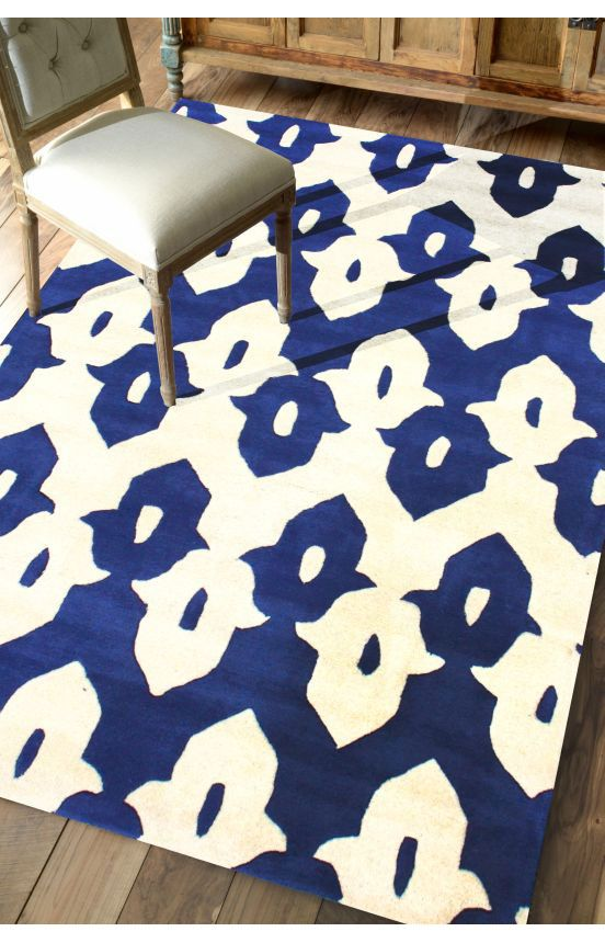 Rugs USA Tuscan Palace Ikat Trellis Royal Blue Rug Labor Day Sale Up