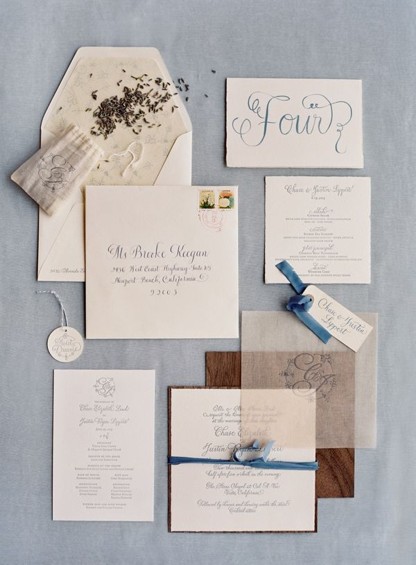 soft blue weddiing stationery suite