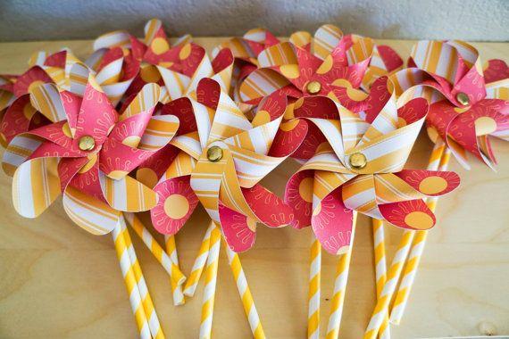 Paper Pinwheel Bouquet  12 double pinwheels  by FinePaperCrafts