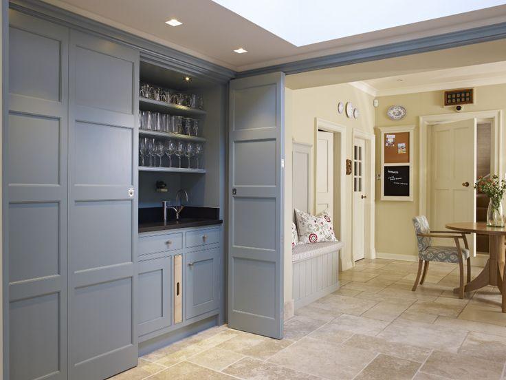 The Secret Drawer Handmade Panelled Drinks Bar In Oval Room Blue Farrow Ball