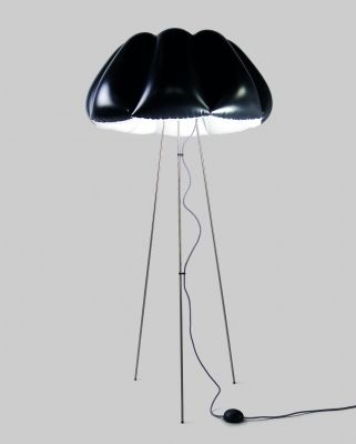 ORCA Lampa Stojąca - Czarna Duża // Puff Buff