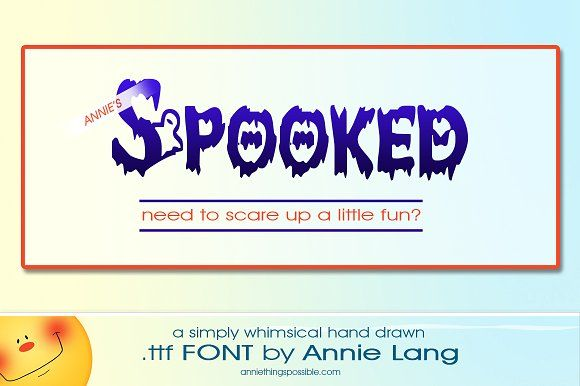 Annie's Spooked Font by Annie Things Possible on @creativemarket