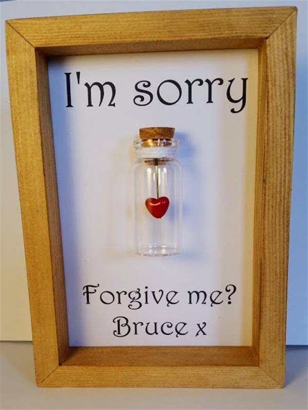 Sorry, Sorry card, Sorry gift, Apology gift, Apology card, Unique gifts, Personalised gifts. Add names or your own message. by undertheblossomtree on Etsy