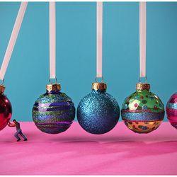 Newton's cradle...Holiday Season Style