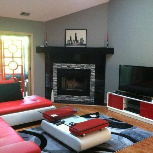Modern Living Room Red And Black 52 best living room images on pinterest | red black, home and