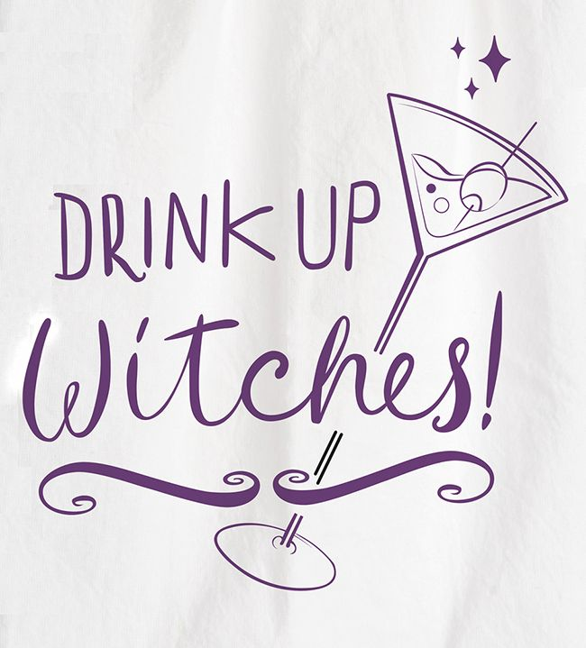 primitives by kathy drink up witches halloween kitchen towel 25266 - Primitives By Kathy Halloween