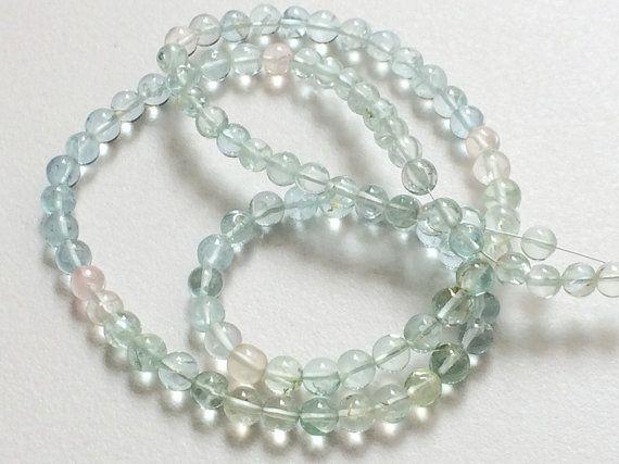 Aquamarine Beads AAA Aquamarine Plain Round by gemsforjewels